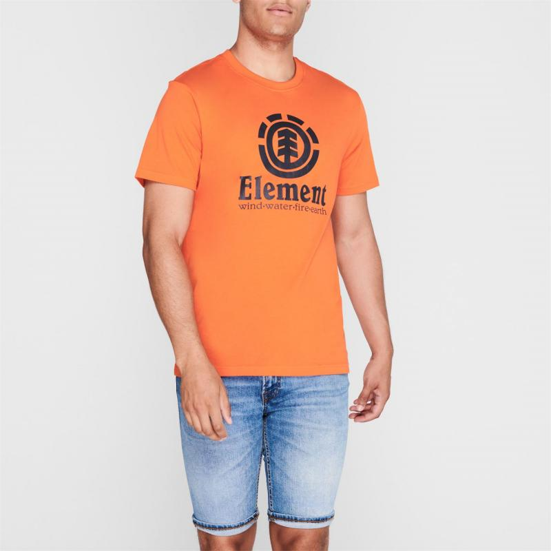 Tričko Element Element Vertical Short Sleeve T Shirt Mens Charcoal
