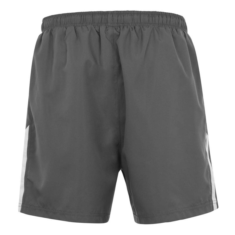 Lonsdale 2 Stripe Woven Shorts Mens Charcoal/White