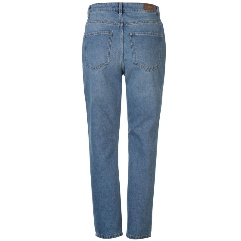Only Kelly Mom Jeans Womens Lt Blue Denim Velikost - W27/L32
