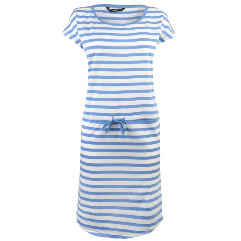 Šaty Only May Short Sleeve Dress Wht/Blue