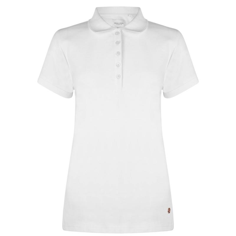 Polokošile Rock and Rags Polo Shirt Ladies White