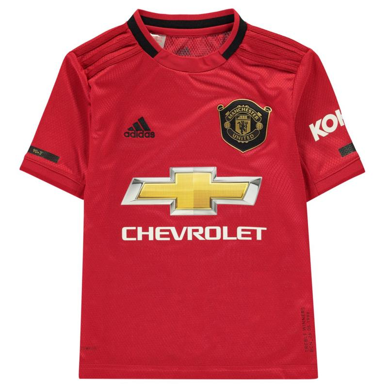 Adidas Manchester United Home Shirt 2019 2020 Junior RED