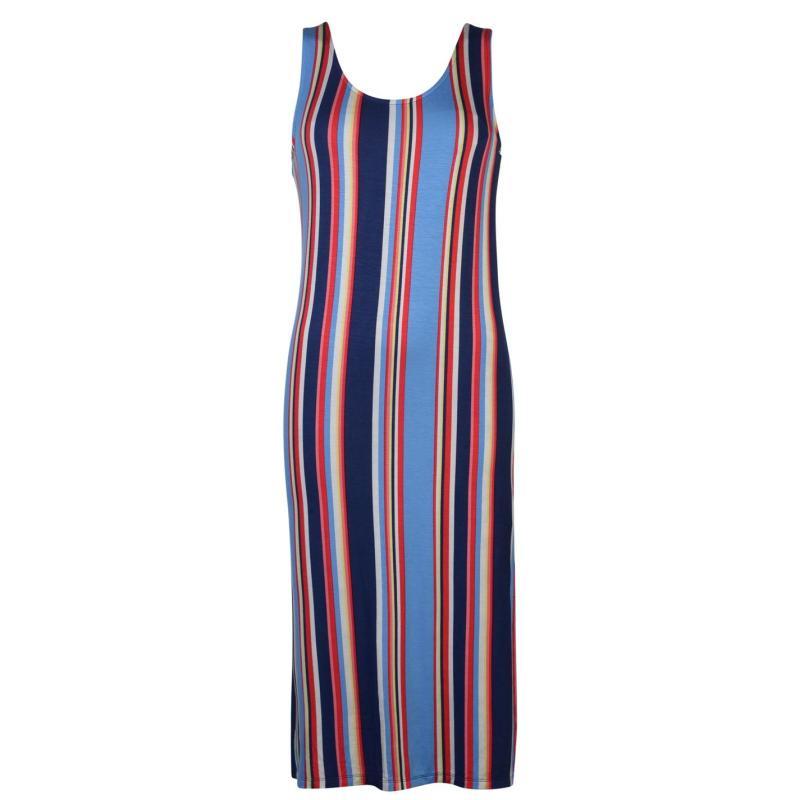 Šaty Full Circle Midi Dress Ladies Stripes