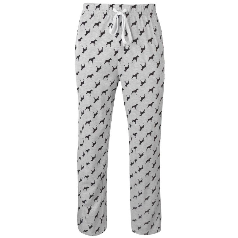 Pyžamo Joe Boxer Long Sleeve Pyjama Set Mens Grey Marl