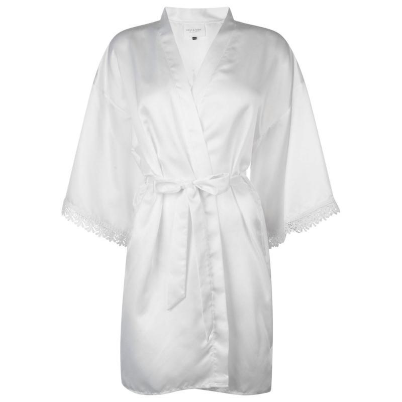 Pyžama Rock and Rags Bridal Robe Ladies White
