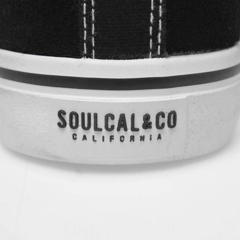 Obuv SoulCal California Lace Trainers Ladies Black/White