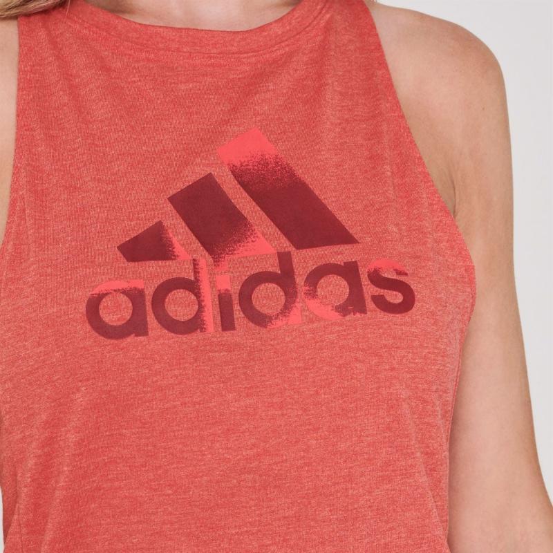Adidas Women's Boxy Badge of Sport Tank Top Shock Red Mel