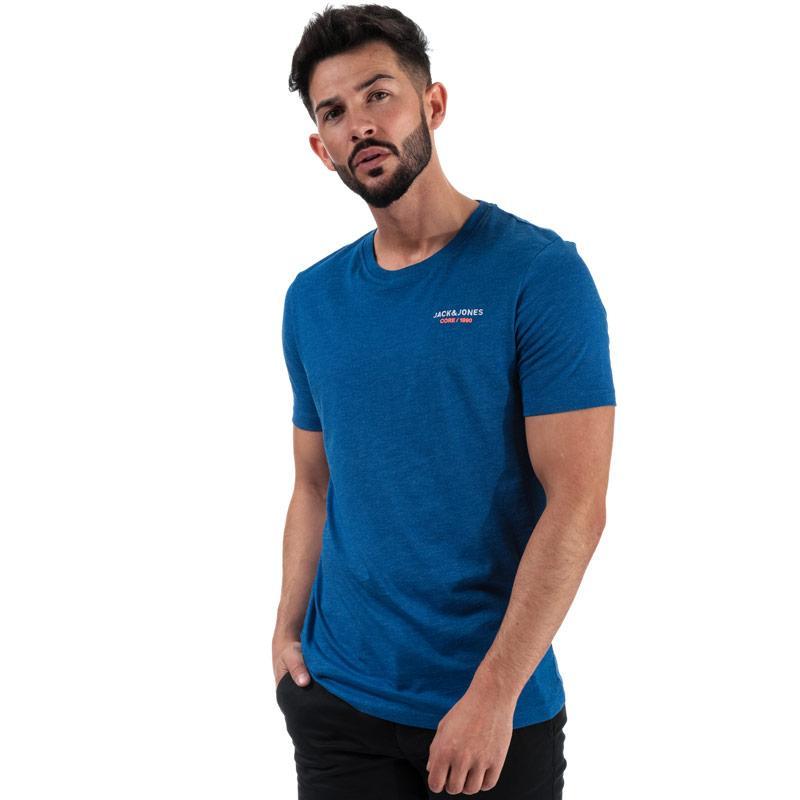 Tričko Jack Jones Mens Scales Crew T-Shirt Blue
