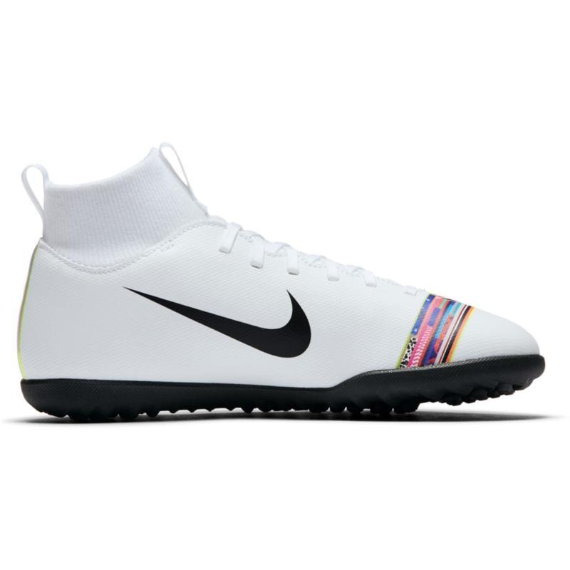 Nike Mercurial Superfly Club Junior Astro Turf Trainers White/Platinum