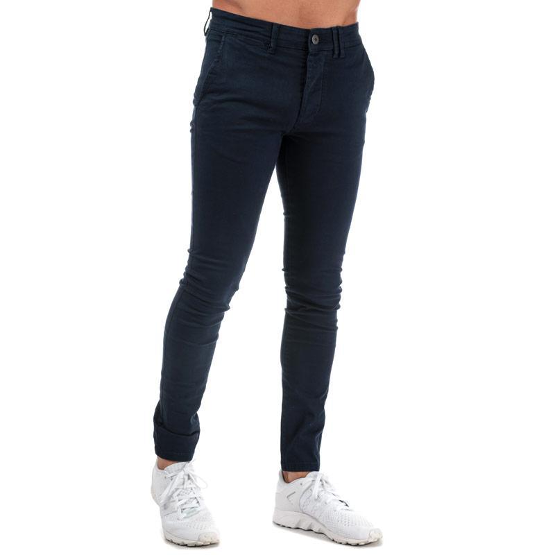 Kalhoty Jack Jones Mens Liam Leroy Chino Pant Navy