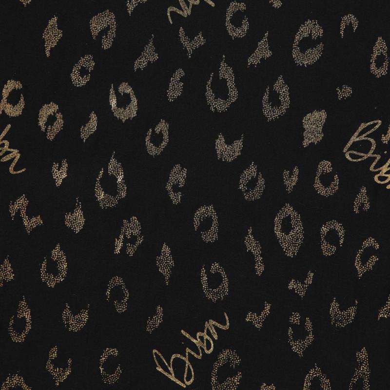 Biba Leopard Print Scarf Black
