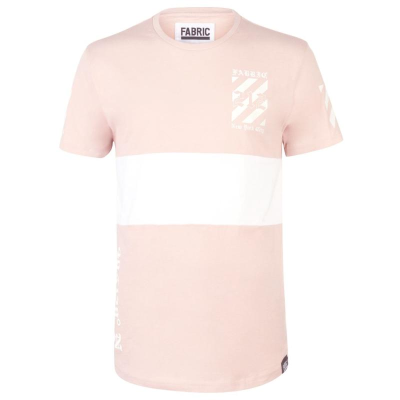 Tričko Fabric Sublimination T Shirt Mens Smoke Black