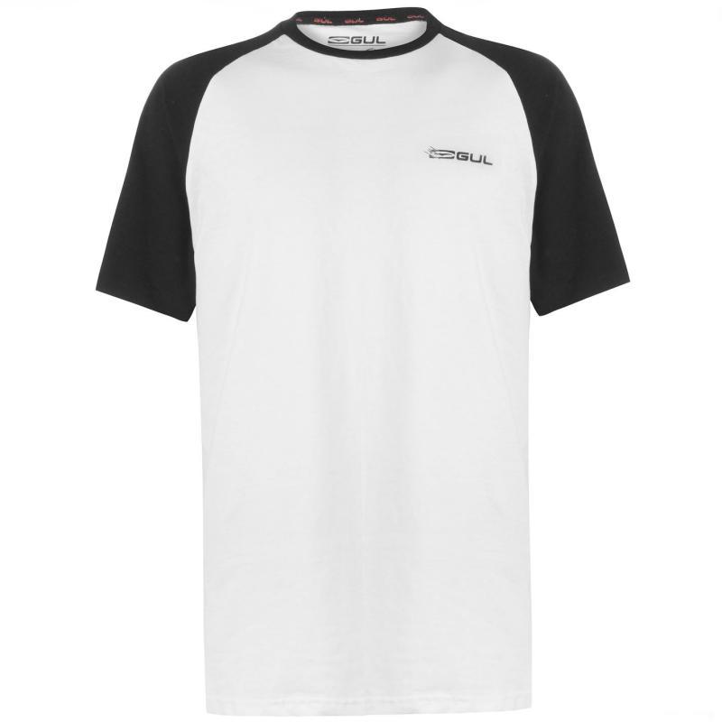Tričko Gul Mens Logo T-Shirt White Raglan