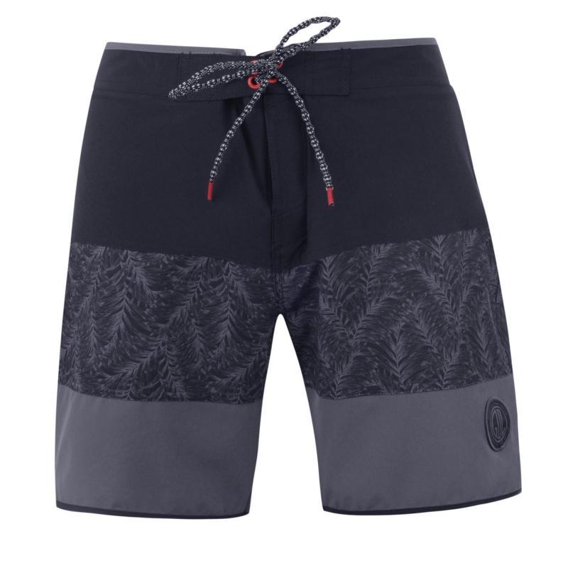 Gul Mens Retro Board Shorts Black/Charcoal