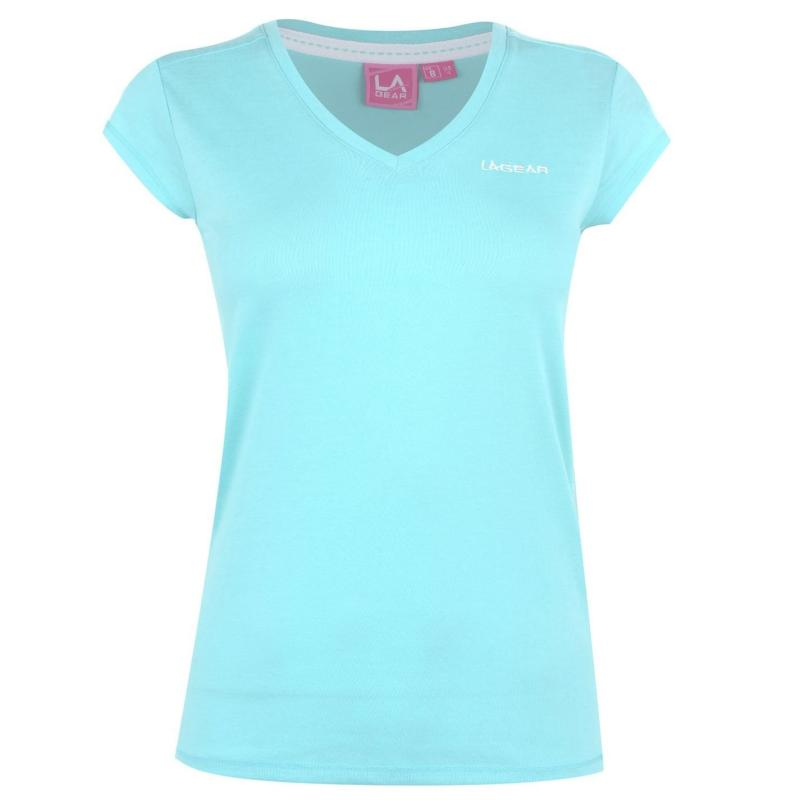 Tričko LA Gear V Neck T Shirt Ladies Bright Blue