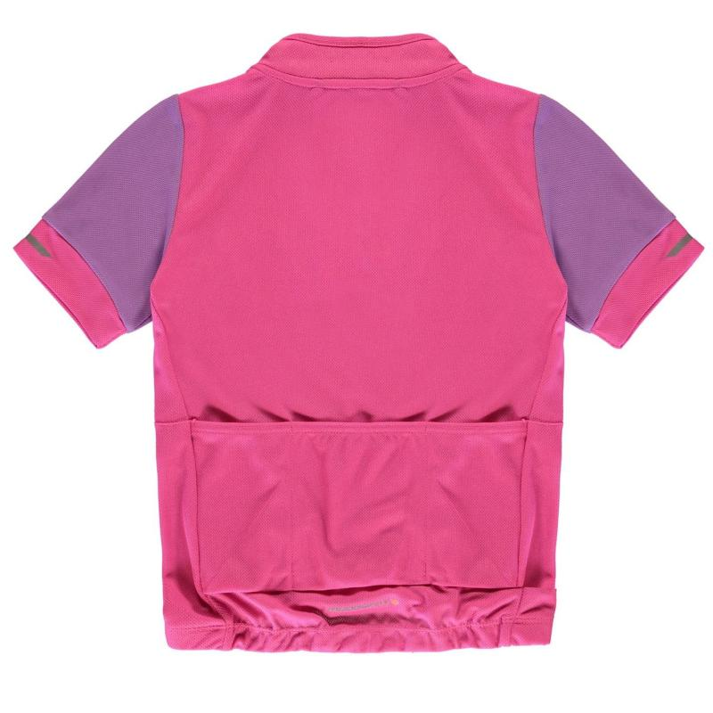 Muddyfox Junior Girls Short Sleeve Cycle Jersey Magenta/Berry