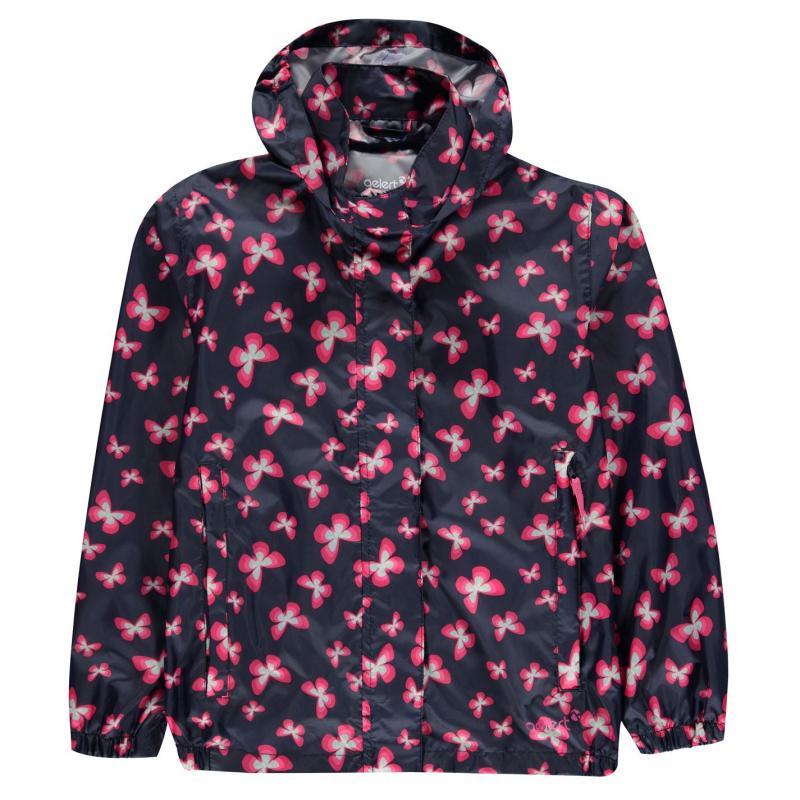Gelert Packaway Junior Girls Waterproof Jacket Butterfly AOP