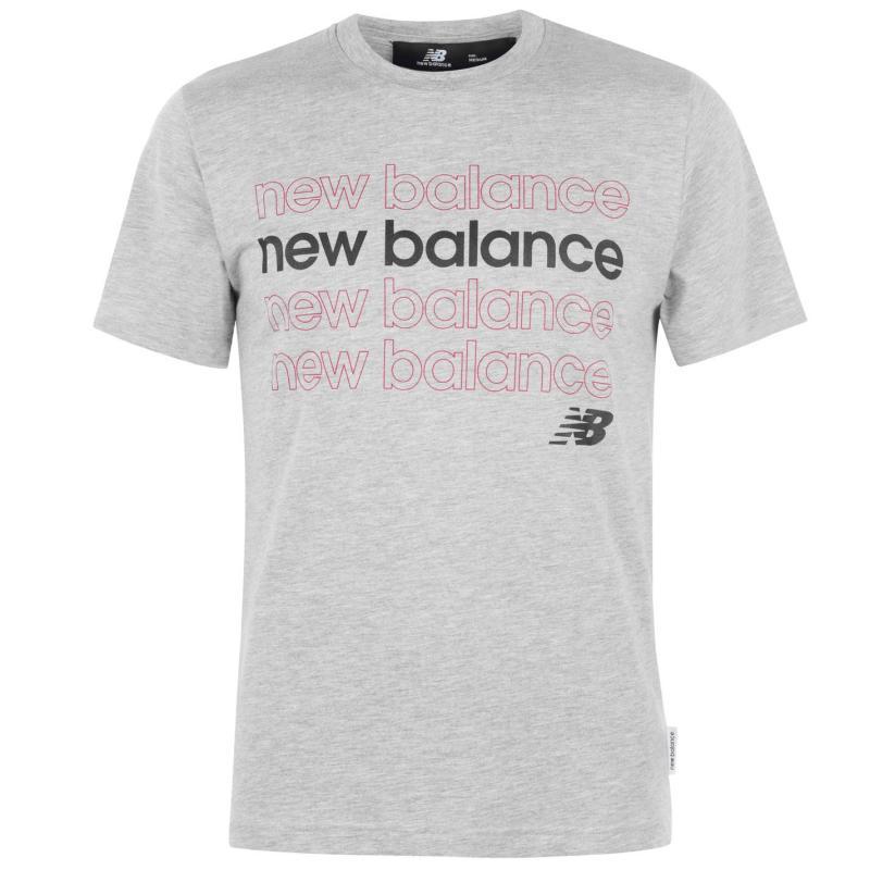 Tričko New Balance Balance Mens Repeat T-Shirt Grey