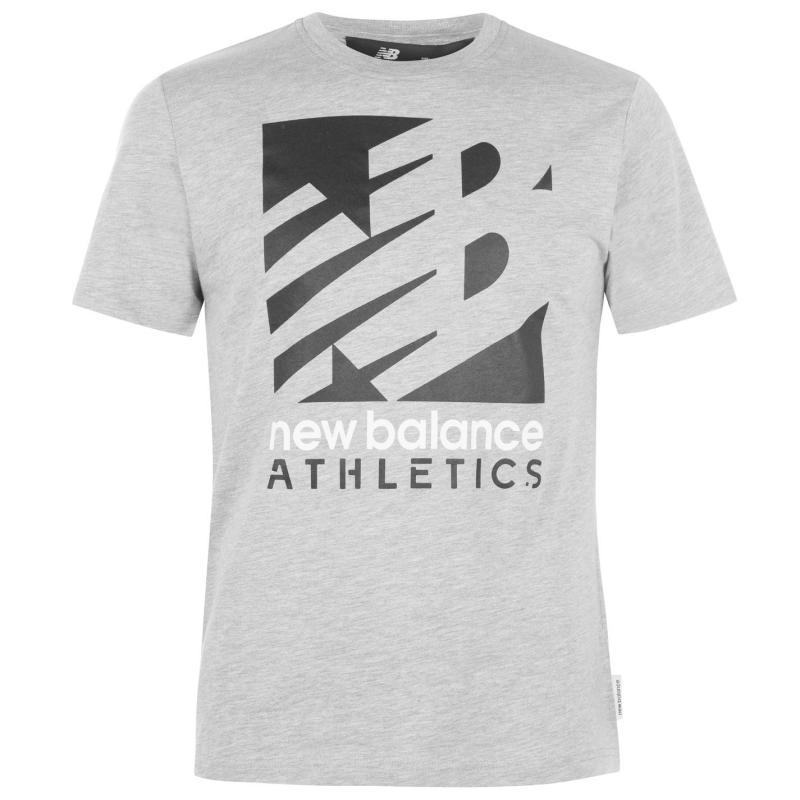 Tričko New Balance Mens Knockout T-Shirt Grey