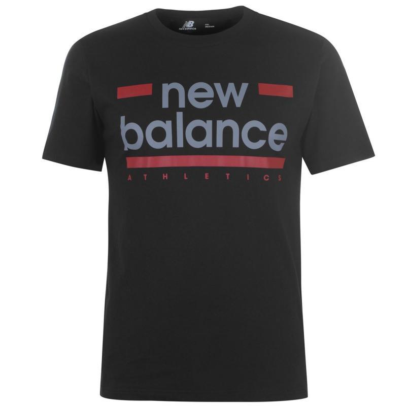 Tričko New Balance Mens Line T-Shirt Black