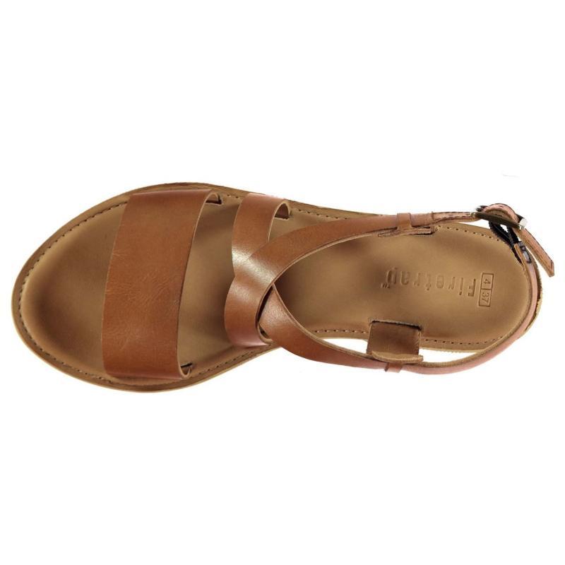 Boty Firetrap Petra Leather Ladies Sandals Tan