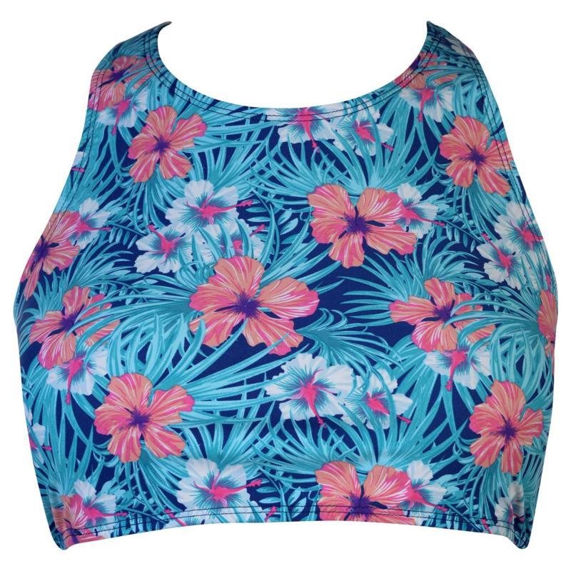 Plavky Gul AOP Crop Top Ladies Blue/Pink
