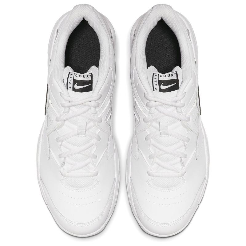 Nike Lite 2 Men's Hard Court Tennis Shoe WHITE/BLACK-WHITE