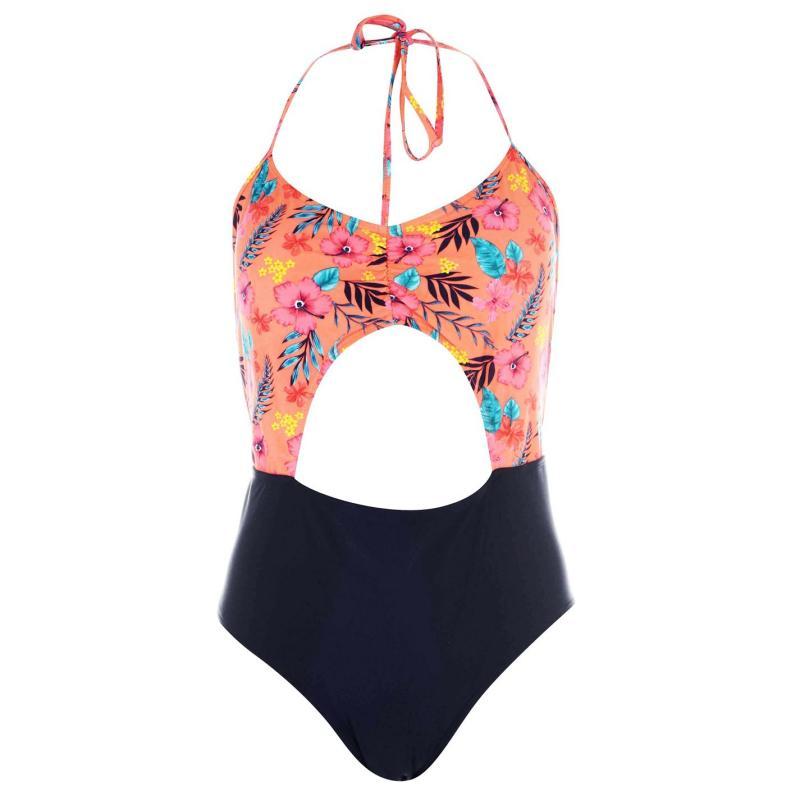Plavky SoulCal Peekaboo Swimsuit Ladies Floral