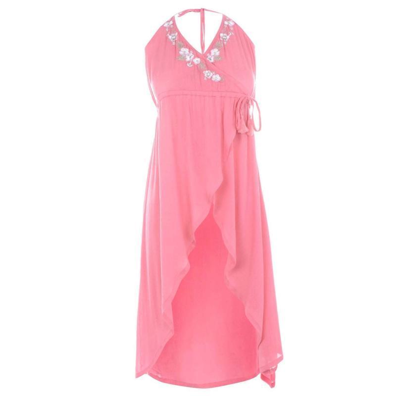 Šaty SoulCal Wrap Maxi Dress Ladies Coral