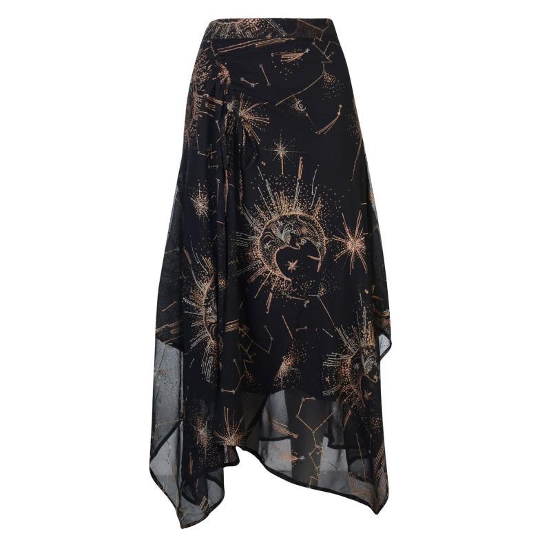 Sukně Label Lab Constellation Skirt Black
