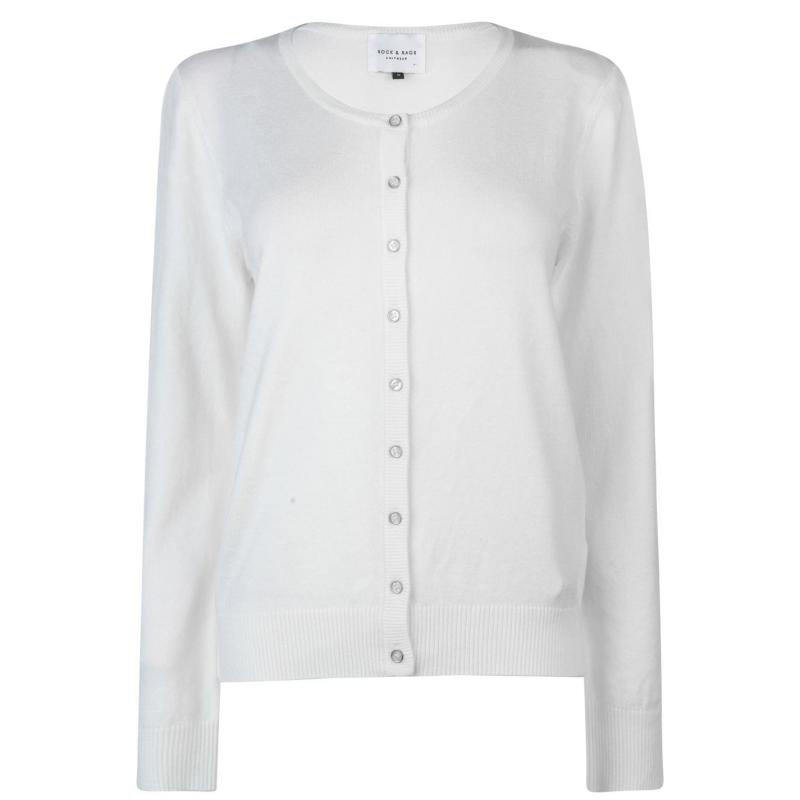 Svetr Miso Crew Cardigan Ladies White