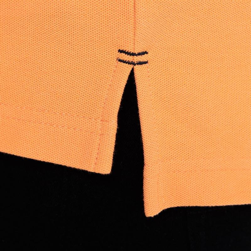 Slazenger Plain Polo Shirt Mens Orange Velikost - XXXL