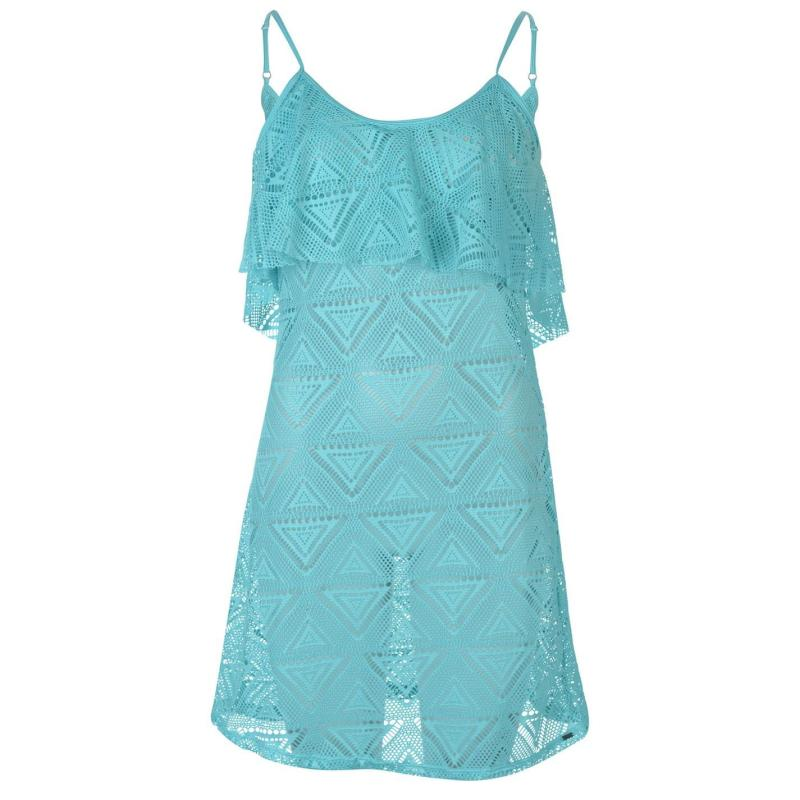 Šaty SoulCal Mesh Vest Beach Dress Ladies Aqua