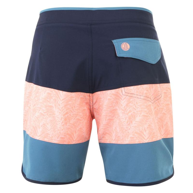 Plavky Gul Mens Retro Board Shorts Navy/Peach/Stee