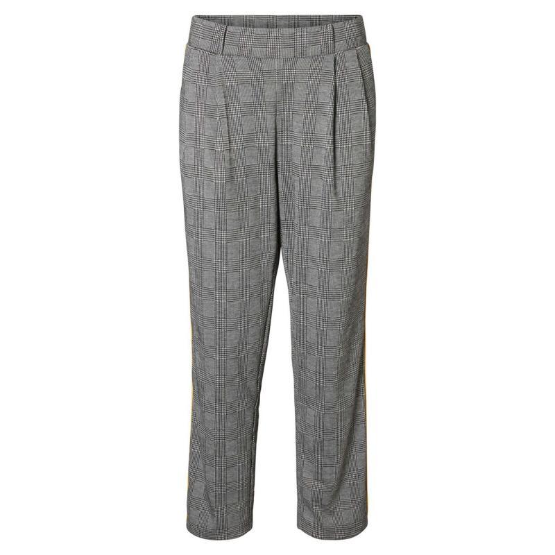 Kalhoty Noisy May Isla Pants Blck/Wht Checks