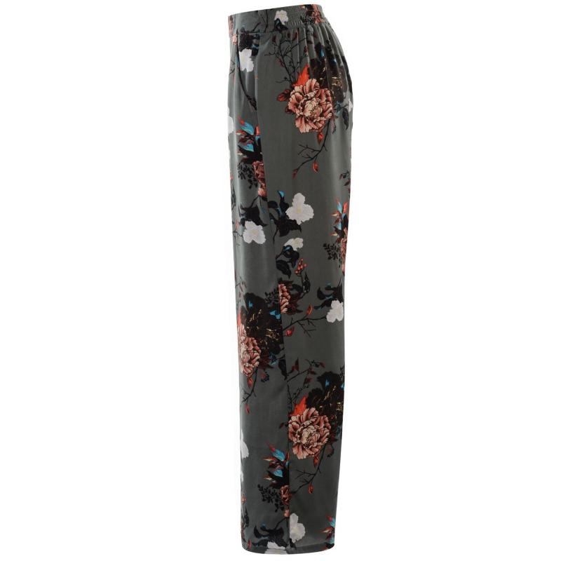 Kalhoty Only Riga All Over Print Palazzo Trousers Botanical Print