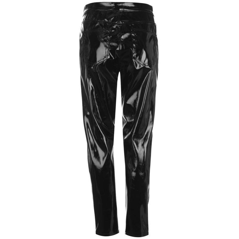 Kalhoty Glamorous Vinyl Pants Black