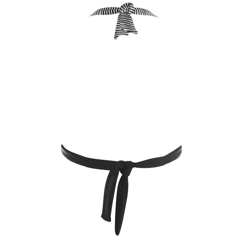 Plavky Biba Biba Monochrome Paris Bikini Top Black