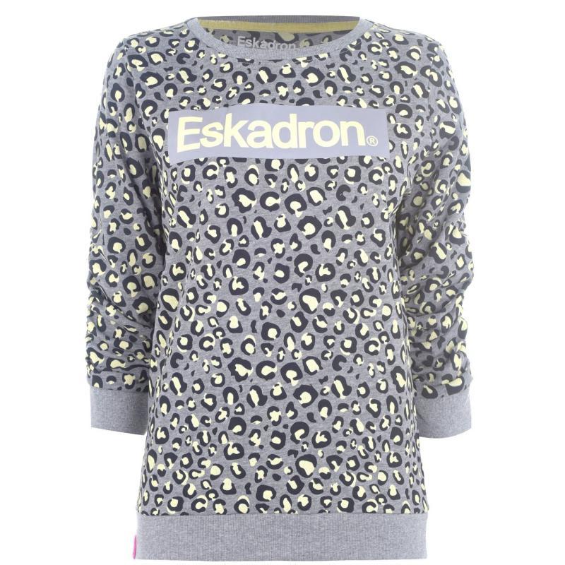 Mikina Eskadron Leopard Print Sweater Animal Print