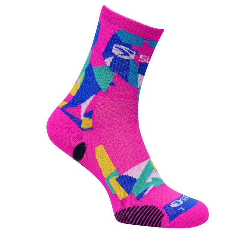 Ponožky Sugoi RSR Quarter Printed Socks Pink
