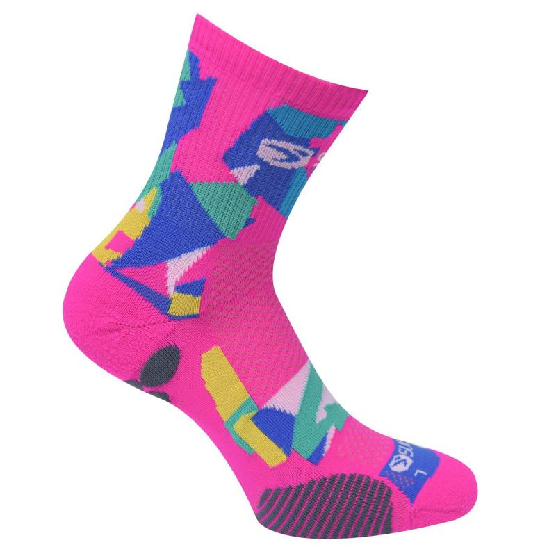 Sugoi RSR Quarter Printed Socks Pink