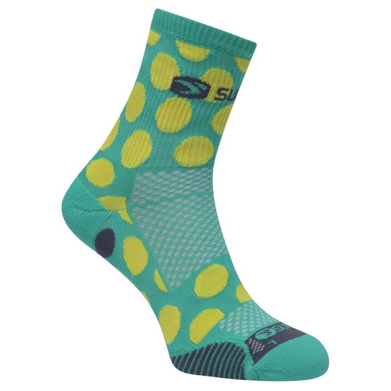 Sugoi RSR Quarter Printed Socks Green .