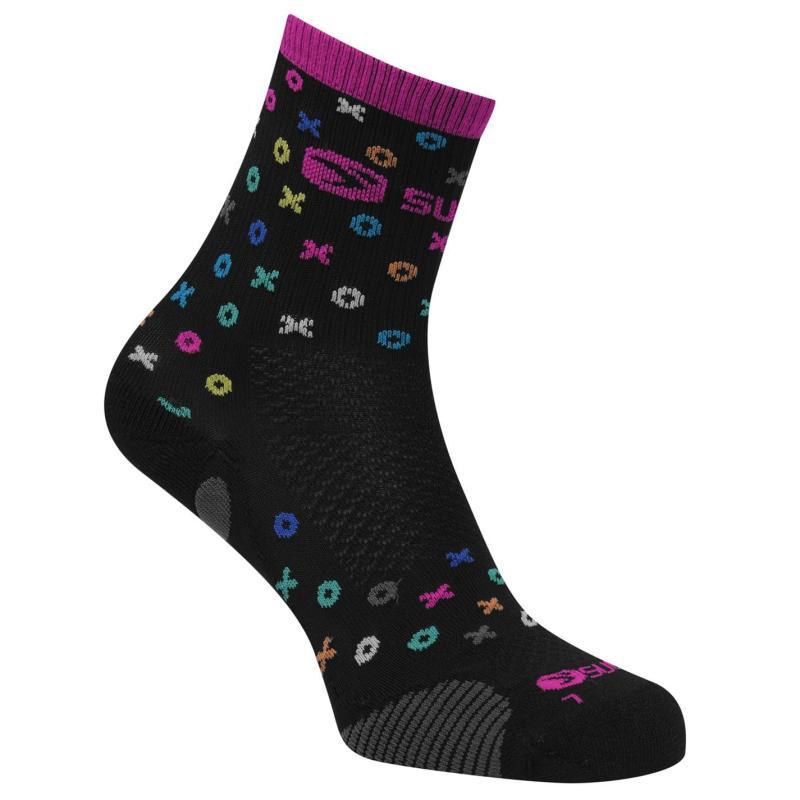 Sugoi RSR Quarter Printed Socks Black Print