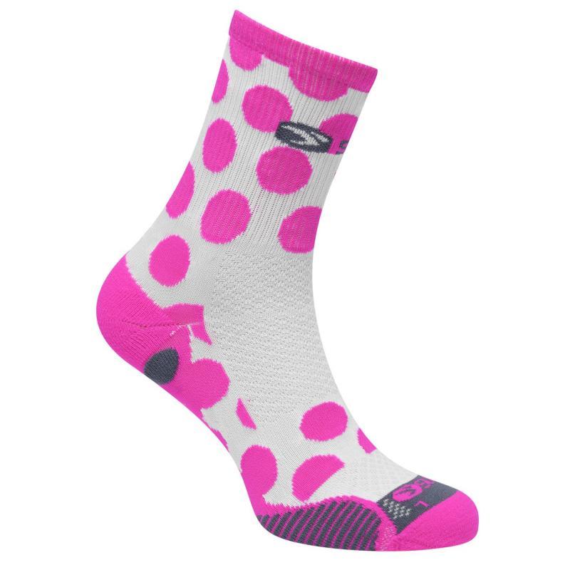 Sugoi RSR Quarter Printed Socks Pink1