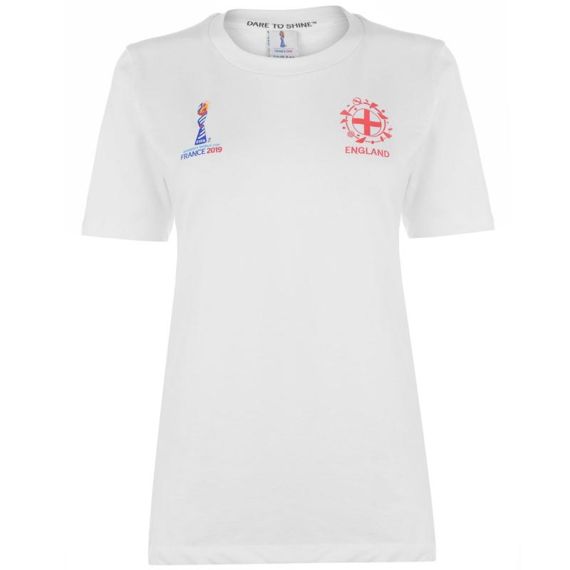 FIFA Womens World Cup England Core T Shirt Ladies White