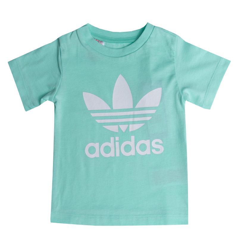 Adidas Originals Infant Girls Trefoil T-Shirt Mint