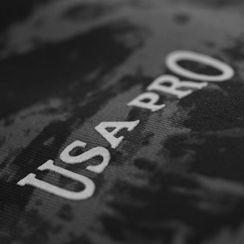 USA Pro Medium Sports Bra Black Fossil