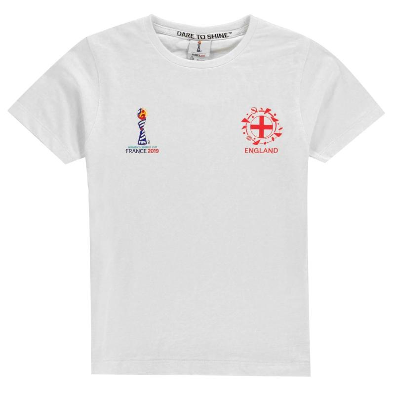 FIFA Junior World Cup England Core T Shirt Junior White