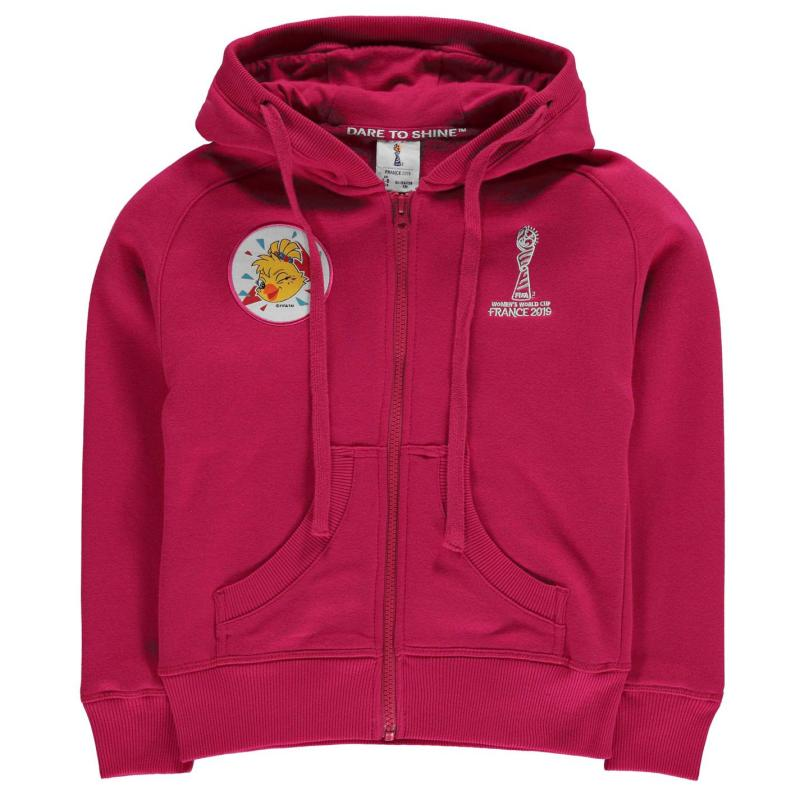 FIFA Womens World Cup England Hoodie Girls Pink