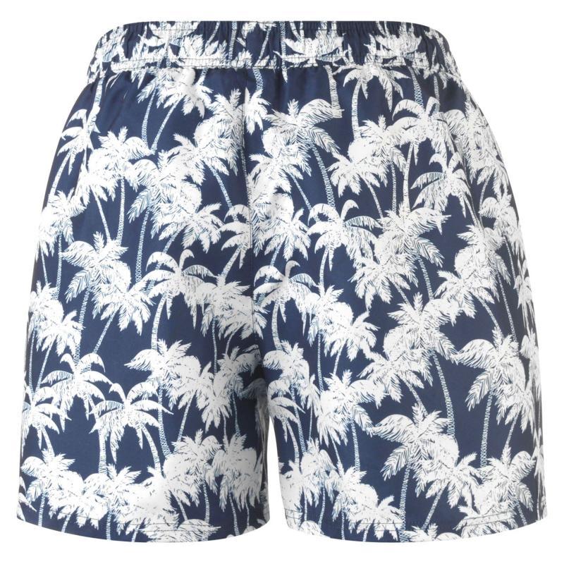 Plavky Hot Tuna Palm Print Shorts Mens Med Blue